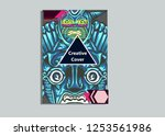 cover layout with tutan mask... | Shutterstock .eps vector #1253561986