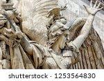 the bas relief la marseillaise  ... | Shutterstock . vector #1253564830