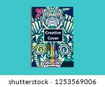 cover layout with tutan mask... | Shutterstock .eps vector #1253569006
