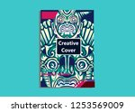 cover layout with tutan mask... | Shutterstock .eps vector #1253569009