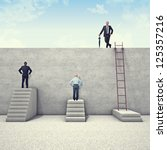 business people and metaphoric... | Shutterstock . vector #125357216