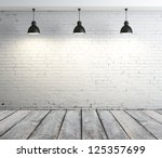 concrete room with three... | Shutterstock . vector #125357699
