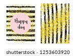 bridal shower set with dots and ... | Shutterstock .eps vector #1253603920