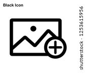 add image icon vector. add photo | Shutterstock .eps vector #1253615956