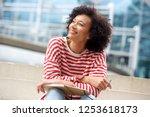 portrait of happy older woman... | Shutterstock . vector #1253618173