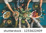 company of friends gathering...   Shutterstock . vector #1253622409