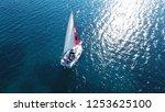 aerial drone bird's eye view... | Shutterstock . vector #1253625100
