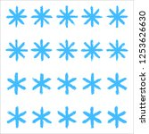 snowflakes set 01. twenty... | Shutterstock .eps vector #1253626630