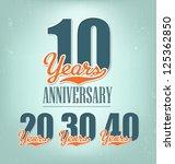 nostalgic anniversary design in ... | Shutterstock .eps vector #125362850