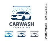 car wash service logo vector.... | Shutterstock .eps vector #1253631313