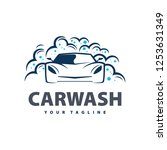 car wash service logo vector.... | Shutterstock .eps vector #1253631349