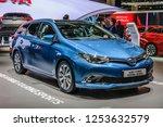 frankfurt   sept 2015  toyta... | Shutterstock . vector #1253632579