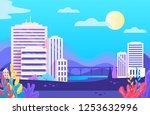 colorful city landscape vector...   Shutterstock .eps vector #1253632996