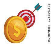 coins finance icon | Shutterstock .eps vector #1253641576