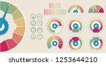 business credit score. customer ... | Shutterstock .eps vector #1253644210