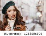 outdoor close up portrait of... | Shutterstock . vector #1253656906