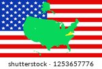 usa state of virginia map on a...   Shutterstock .eps vector #1253657776