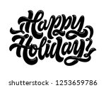 happy holidays. hand drawn... | Shutterstock .eps vector #1253659786