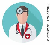 vector medical icon doctor lor. ... | Shutterstock .eps vector #1253659813