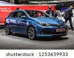 frankfurt   sept 2015  toyta... | Shutterstock . vector #1253659933