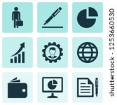 trade icons set with agreement  ... | Shutterstock . vector #1253660530
