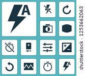 picture icons set with reload ... | Shutterstock .eps vector #1253662063