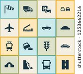 transportation icons set with... | Shutterstock .eps vector #1253662216
