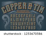 a classic retro alphabet called ... | Shutterstock .eps vector #1253670586