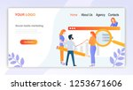 leading creative concepts of... | Shutterstock .eps vector #1253671606