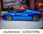 frankfurt   sept 2015  ferrari... | Shutterstock . vector #1253672986