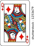 Queen Of Diamonds From Deck Of...