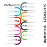 eight options plan slide... | Shutterstock .eps vector #1253680690