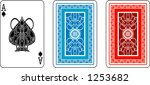 ace and matching back from deck ...   Shutterstock .eps vector #1253682
