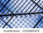 lath structure of roof  ... | Shutterstock . vector #1253684329