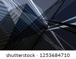 office building fragment viewed ... | Shutterstock . vector #1253684710