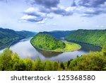 Danube River Winding In The...