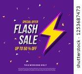 flash sale banner template... | Shutterstock .eps vector #1253687473