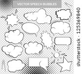 comic vector design elements.... | Shutterstock .eps vector #125369840