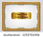 royal golden invitation frame...   Shutterstock .eps vector #1253701456