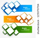 set of banners with squares | Shutterstock .eps vector #125370704