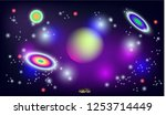 bright and shiny space design... | Shutterstock .eps vector #1253714449