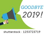 Text Sign Showing Goodbye 2019...
