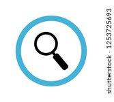 magnifying glass icon symbol....