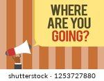 writing note showing where are... | Shutterstock . vector #1253727880