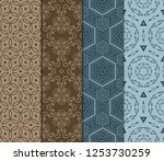 set of floral ornament.... | Shutterstock .eps vector #1253730259
