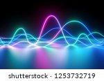 3d render  neon light  laser... | Shutterstock . vector #1253732719