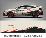 car wrap design vector  truck... | Shutterstock .eps vector #1253735263