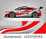 car wrap design vector  truck... | Shutterstock .eps vector #1253735293