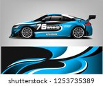 car wrap design vector  truck... | Shutterstock .eps vector #1253735389
