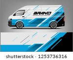 company car wrap. wrap design... | Shutterstock .eps vector #1253736316
